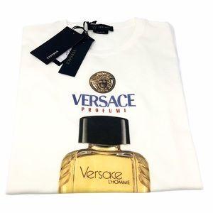 Brand New Versace Men's Scents Motif T-Shirt